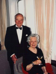 Having traveled the world together, George and Josephine Rother are celebrating on one of their many cruises. The love of Rother;s life, Josephine died at age 80 in 1997. Rother will celebrate his 106th birthday on Feb. 16.