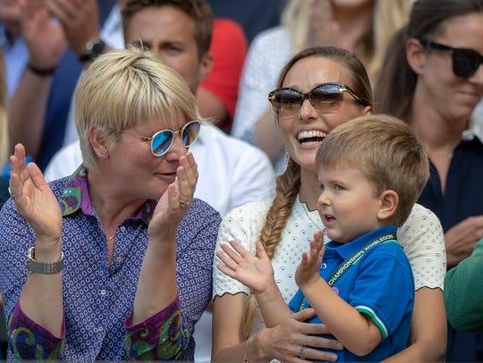 Jelena and Stefan Djokovic in attendance for Novak