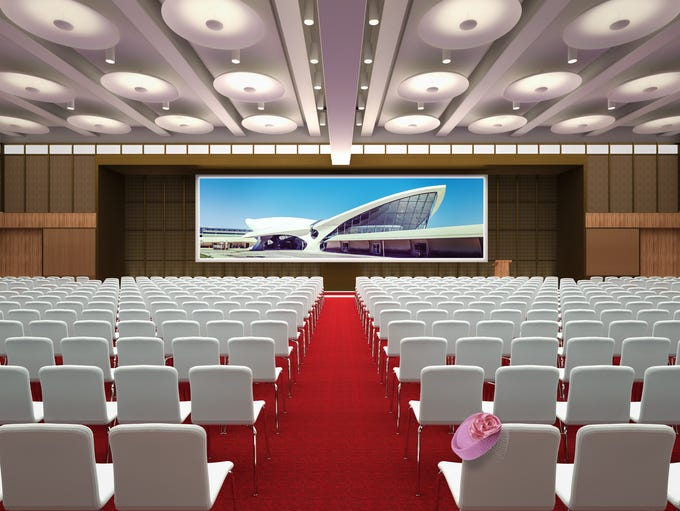 This image, provided by The TWA Hotel, shows its planned