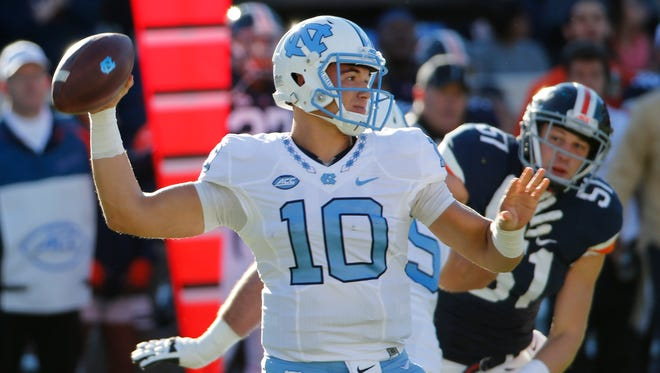 North Carolina quarterback Mitch Trubisky.