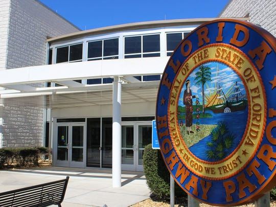 A state seal from the Florida Highway Patrol 's Troop F headquarters in Fort Myers was refurbished by art students at Gateway Charter High School.