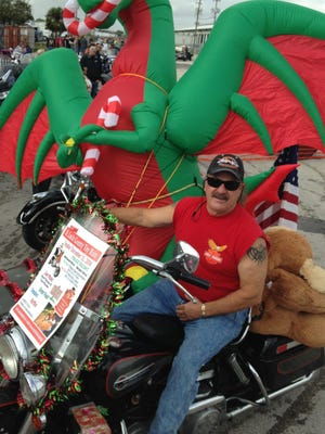 Scotty Stone, of Vero Beach, was at the front of the annual Toy Run parade Sunday that started in Fort Pierce.