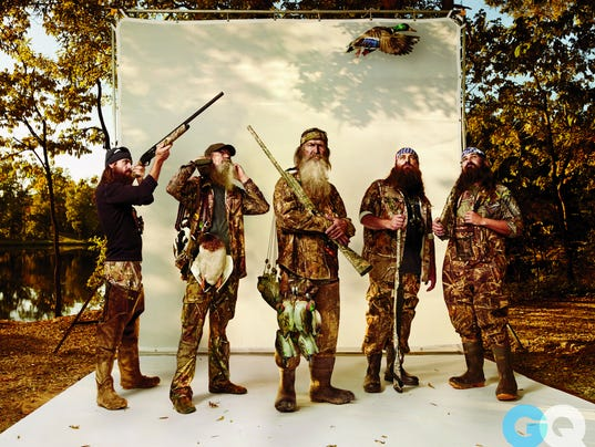 Duck Dynasty' dudes include Jep, left, Willie, Phil, Uncle Si and