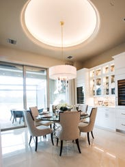 The eating nook and kitchen inside moves almost seamlessly