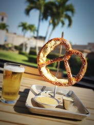 The German pretzel is available for $9 at World of
