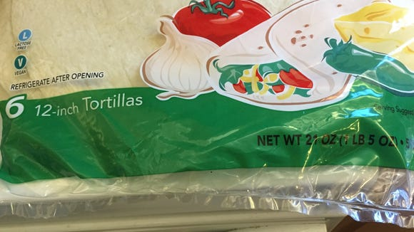Fewer but larger tortillas are in a package that looks like one with more but smaller ones. Beware the calorie difference.