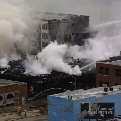 A 2003 fire destroyed the Waterstreet Brownstones and