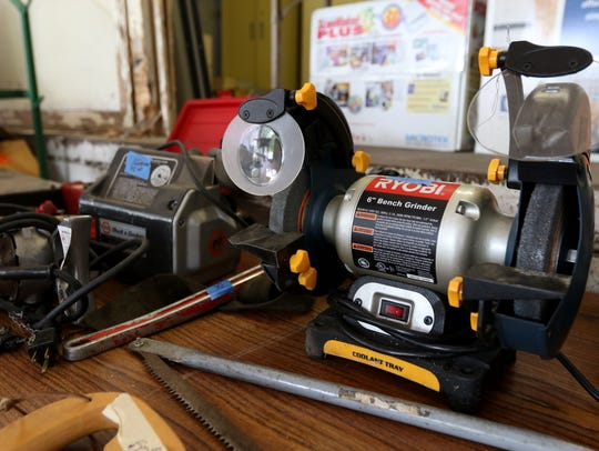 Various power tools for sale at the Stevens Point surplus