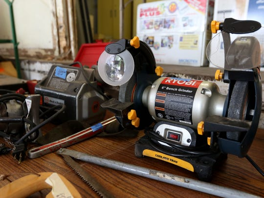 Various power tools for sale at the Stevens Point surplus sale this coming Sunday.