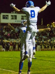 Dixie receiver Hobbs Nyberg (9) was named the 3AA South Offensive Player of the Year last year after racking up 1,957 all-purpose yards and led the team with a combined 19 touchdowns.