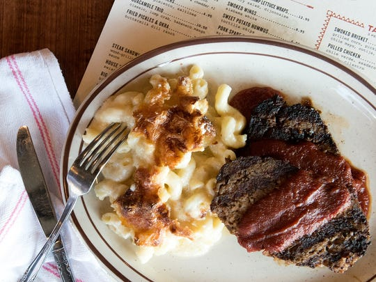 The Sutler serves filling foods like meatloaf and mac and cheese.