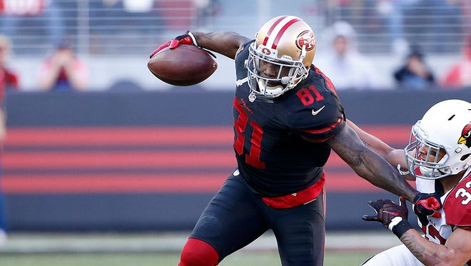 San Francisco 49ers wide receiver Anquan Boldin.