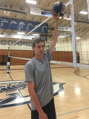 Daniel Wetter has been a late bloomer in volleyball, but has become a standout for the Camarillo High team.