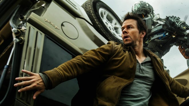 "Mark Wahlberg dodges explosions in ""Transformers: Age of Extinction."""