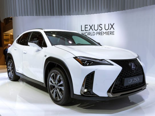 The New Lexus UX is presented during the press day