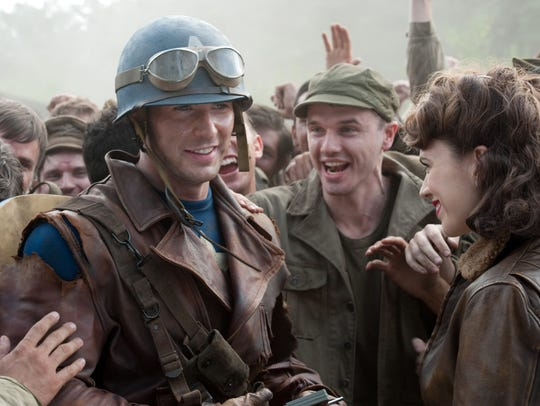 Steve Rogers (Chris Evans) supports his fellow soldiers