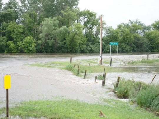 Flooding at the intersection of 487th Avenue and 262nd