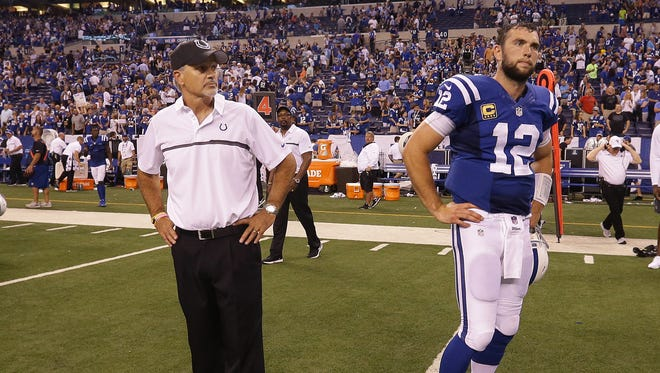 Colts coach Chuck Pagano and QB Andrew Luck have both expressed frustration over the team's 1-3 start.