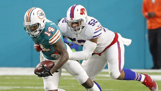 Buffalo Bills linebacker Preston Brown tied for the NFL lead in 2017 with 144 total tackles.