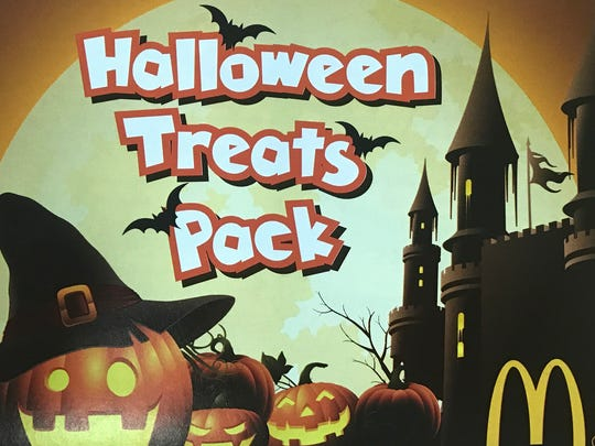 McDonald's is selling Halloween Treats Packs for $1, which include 12 coupons for free treats.