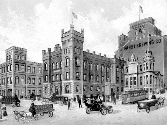 The Pabst Brewery in Milwaukee circa 1900.
