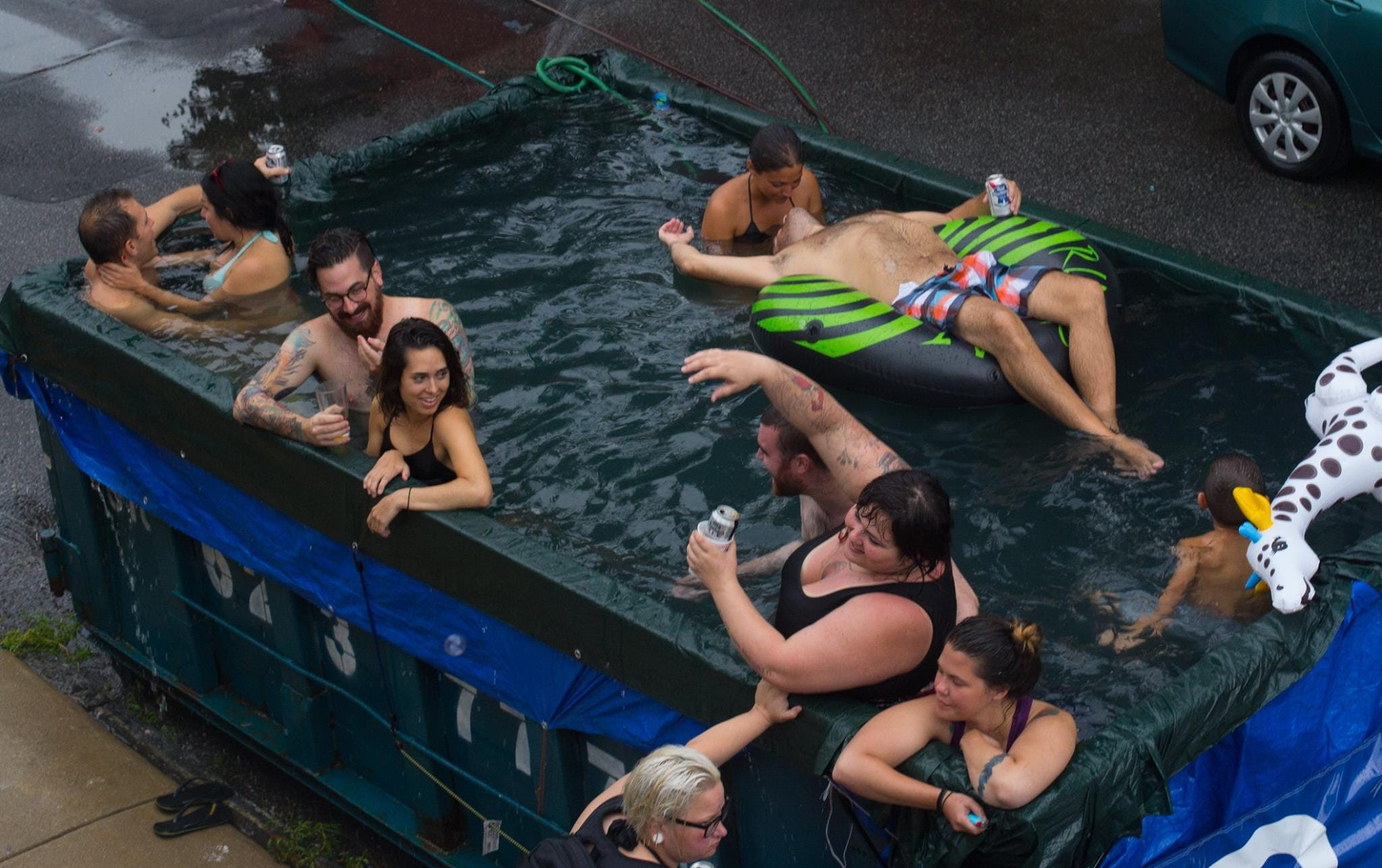 Last Year, Phillyu0027s Dumpster Pools Made Headlines. This Year... Well, You  Have To See This