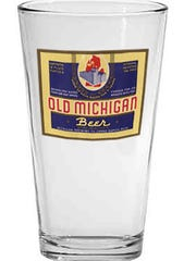 This vintage Old Michigan pint glass makes an ideal