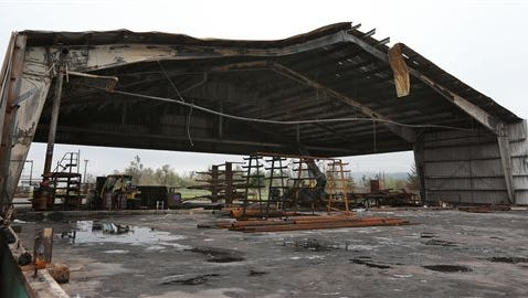 Fire-damaged Springfield Plywood Mill