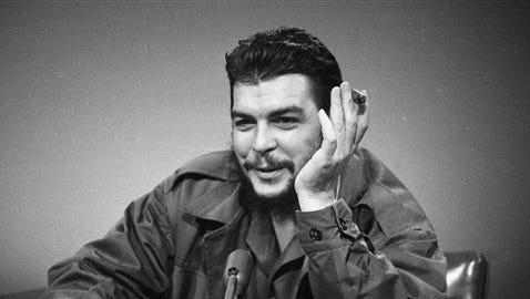 """In this Dec. 13, 1964 file photo, Cuba's Ernesto """"Che"""" Guevara makes an appearance on """"Face the Nation"""" at CBS-TV studios in New York. The Sunday morning public affairs show """"Face the Nation"""" celebrates 60 years of broadcasts this week, making it the second longest-running television program on the air."""