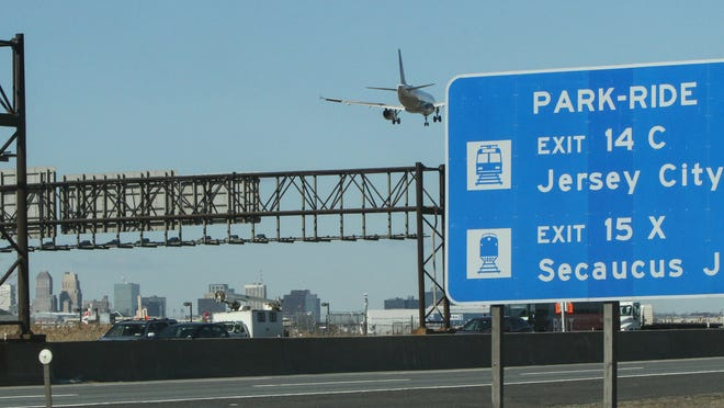 The New Jersey Turnpike at Newark Airport.