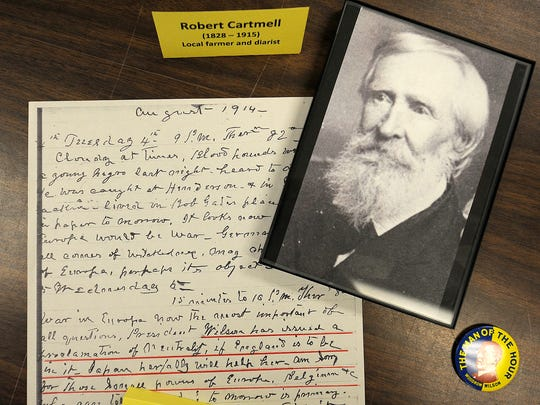 Part of the Robert Cartmell display is seen at the Jackson-Madison County Library in Jackson, Tenn., on Wednesday, Oct. 26, 2016.
