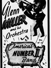 A September 1942 advertisement in the Asbury Park Press for the last performance of Glenn Miller and his orchestra before Miller went into the military.