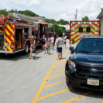 Village of Hartland Touch a Truck event