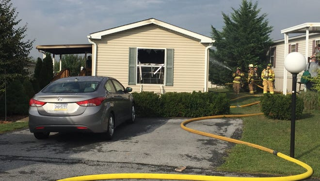 A Saturday morning fire at 8 E. Pine St., Bethel Township, left one person - uninjured - displaced on Saturday, Sept. 10, 2016.