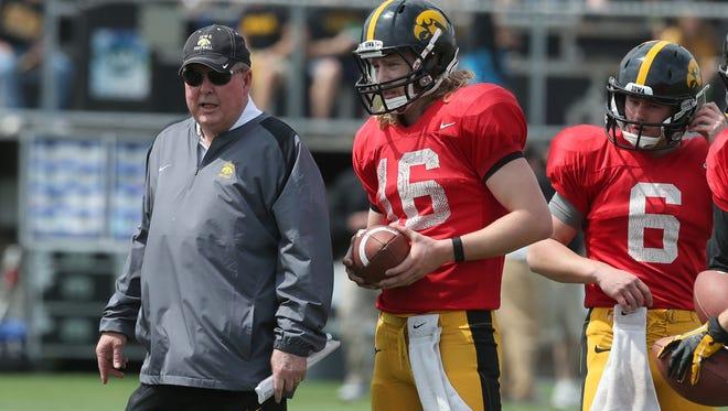 Iowa offensive coordinator Greg Davis is coming under scrutiny, no matter who starts at quarterback.