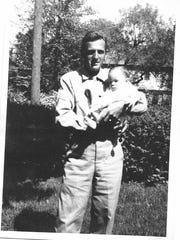 George Ronkette and his son, Bruce. George died serving