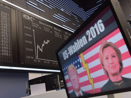 Frankfurt Stock Exchange Reacts To U.S. Elections Results