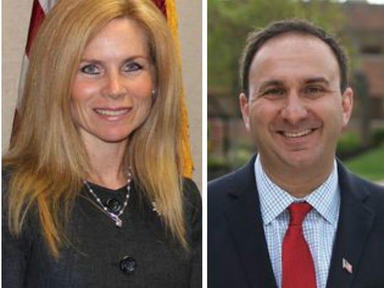 Adrienne Carey, left, and Daniel Capara