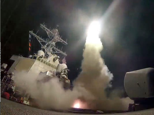 tomahawk launch on syria
