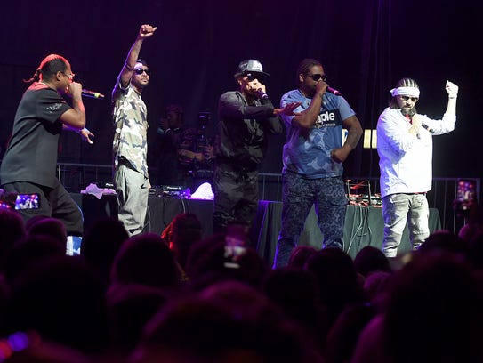 Bone Thungs-n-Harmony, performed at The Ballpark at