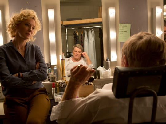 "Cate Blanchett as Mary Mapes and Robert Redford as Dan Rather in ""Truth."""