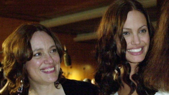 Angelina Jolie, right, is joined by her mother Marcheline