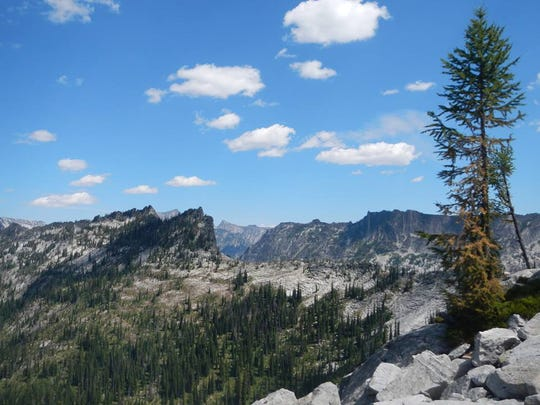 The 1.3 million-acre Selway-Bitterroot Wilderness Area is characterized by sharp canyons and barren peaks.