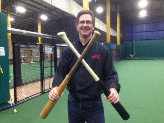 Grady Phelan and his angled knob ProXR bat