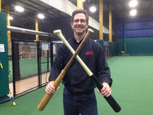 Grady Phelan and his angled knob ProXR bat