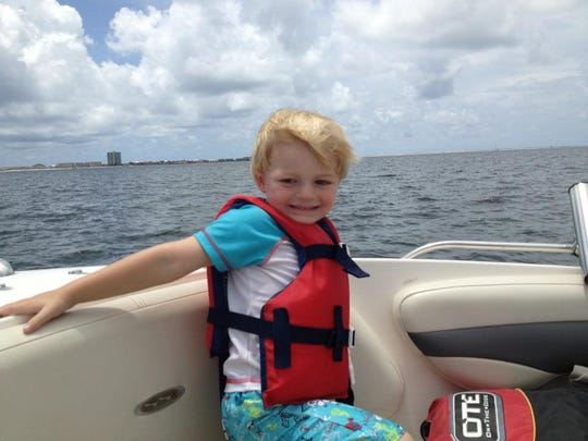 Four-year-old Logan Fontana went missing Saturday after apparently falling from his grandfather's boat and into Pensacola Bay.