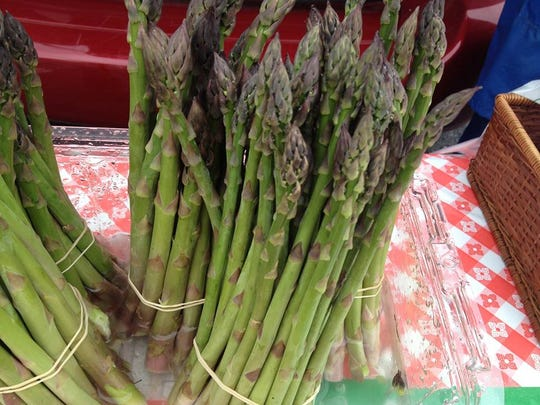 Asparagus from the St. Cloud Farmers Market.