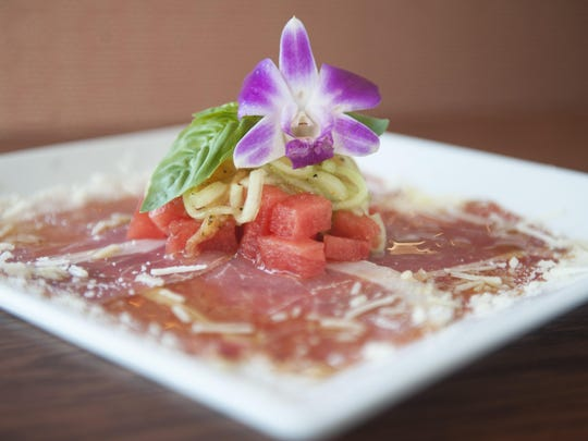 Prosciutto and melon is elevated from the usual treatment at Redz Restaurant in Mount Laurel.