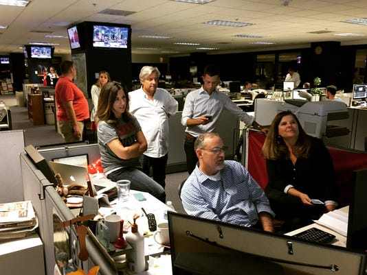 Arizona Republic newsroom on Election Night