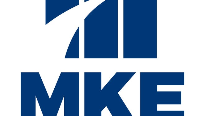 Mitchell International Airport in Milwaukee has an updated logo that includes the letters MKE, the airport's International Air Transport Association location code.
